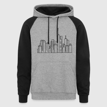 Skyline of Frankfurt - Colorblock Hoodie