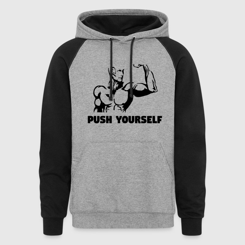Push Yourself - Fitness - Colorblock Hoodie