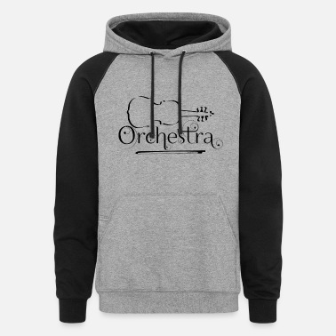 Orchestra Orchestra Violin Outline - Unisex Colorblock Hoodie