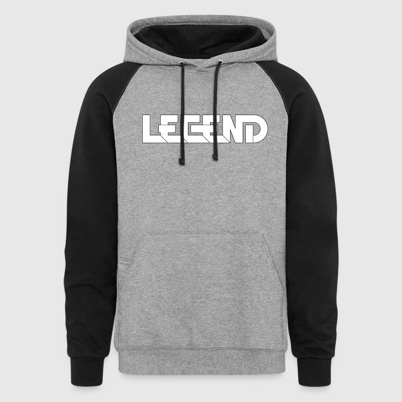 Legend Logo Black Outline (YouTube RelicVids) - Colorblock Hoodie