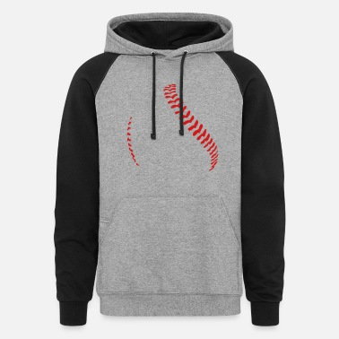 Baseball and softball seams - Colorblock Hoodie