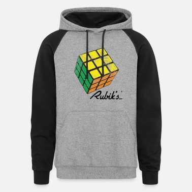 Rubiks Cube Rubik's Cube Solved Colourful Vintage - Colorblock Hoodie