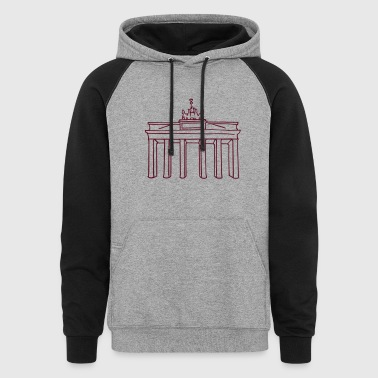 Brandenburg Gate Berlin - Colorblock Hoodie