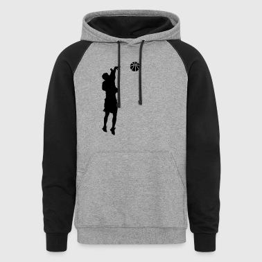 Jump Shot JUMP SHOT BASKETBALL  - Colorblock Hoodie