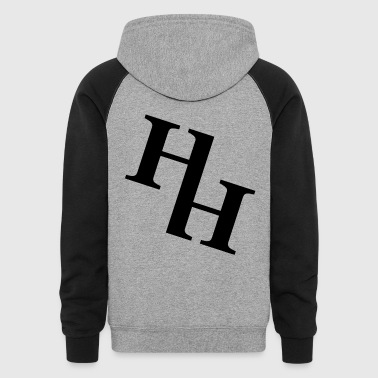 big HH Logo(Black) - Colorblock Hoodie