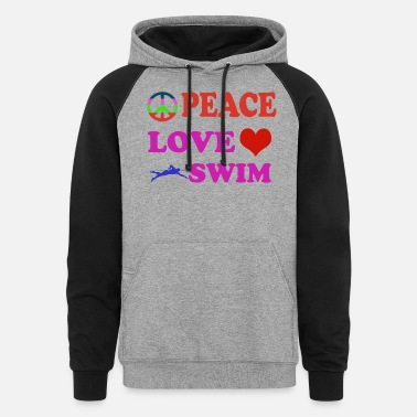 Toddlers peaceswim - Unisex Colorblock Hoodie