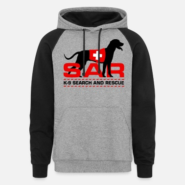 Search K-9 Search and Rescue - Unisex Colorblock Hoodie