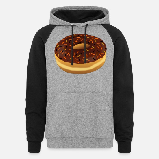 Spray Hoodies & Sweatshirts - Halloween Donut 2 - Unisex Colorblock Hoodie heather gray/black