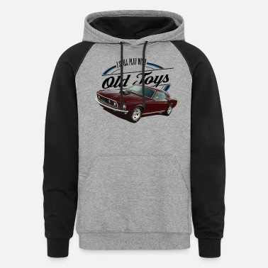 Logo still plays with mustangs - Unisex Colorblock Hoodie