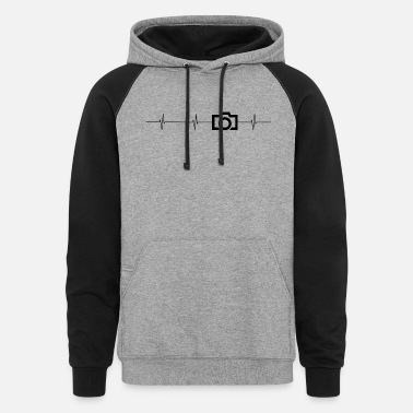 camera-heartbeat - Unisex Colorblock Hoodie