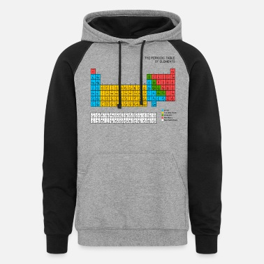 Periodic Table Periodic Table - Unisex Colorblock Hoodie