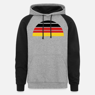 Oktoberfest sunrise sun 3 colors germany nation black red gold - Unisex Colorblock Hoodie