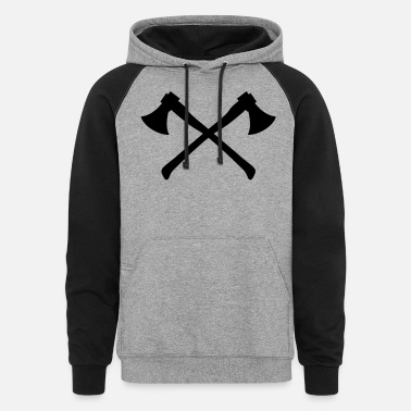 Axe Crossed Two Axes - Crossed Axes - Unisex Colorblock Hoodie