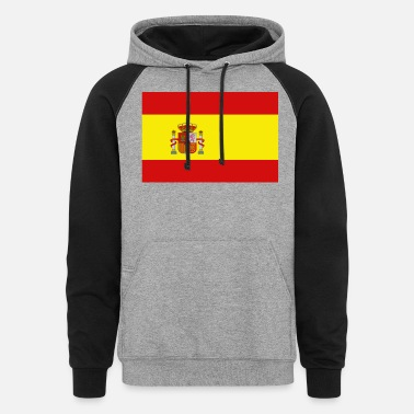 Spain Spain Flag - Unisex Colorblock Hoodie