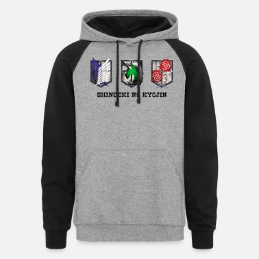 Attack On Titan attack on titan - Unisex Colorblock Hoodie