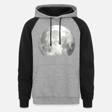 Full Moon full moon skyline - Unisex Colorblock Hoodie