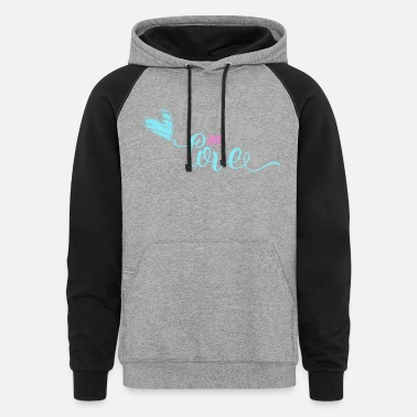 Lucky In Love - Unisex Colorblock Hoodie
