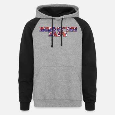 4th Home of the Brave - Unisex Colorblock Hoodie