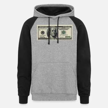 Bill 100 Dollar Bill - Unisex Colorblock Hoodie