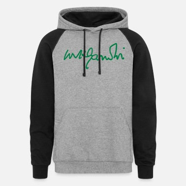 Laugh gandhi signature - Unisex Colorblock Hoodie
