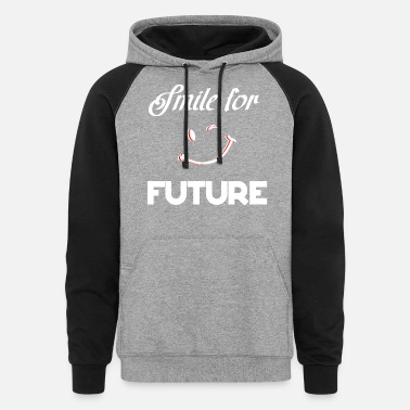Sustainable climate change shirt smile future gift idea - Unisex Colorblock Hoodie