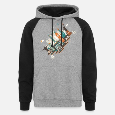 A series of works everywhere I will - Unisex Colorblock Hoodie
