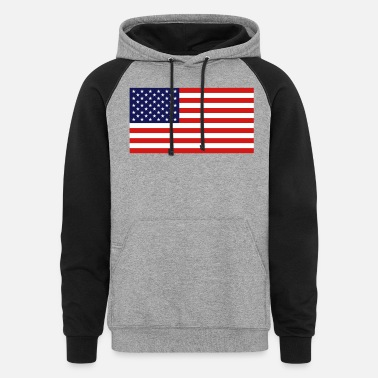 United States Flag - Unisex Colorblock Hoodie