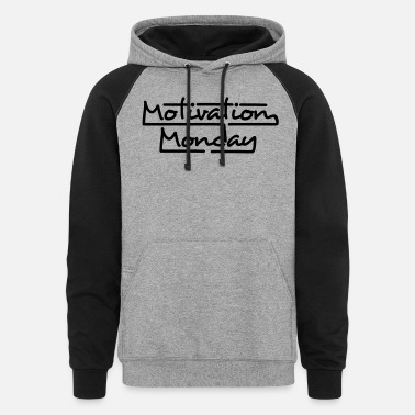 Partymode Motivation Monday - Unisex Colorblock Hoodie