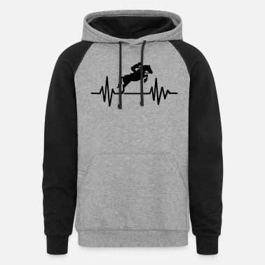 Show Jumping Show jumping - Unisex Colorblock Hoodie