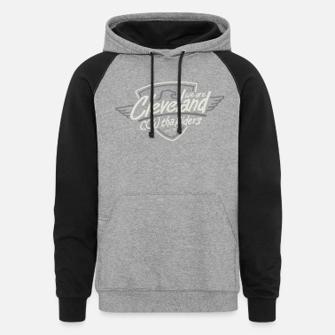 Tha Riders Cleveland Shield Motorcycle design - Unisex Colorblock Hoodie
