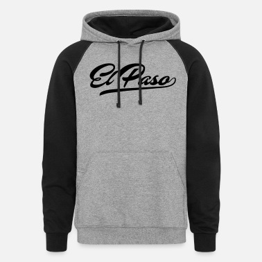 El Paso City T-Shirt - Unisex Colorblock Hoodie