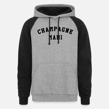 Mami Champagne mami - Unisex Colorblock Hoodie
