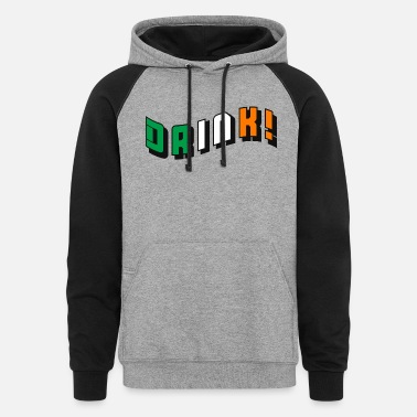 Irish Drink Flag St Patrick's Day - Unisex Colorblock Hoodie