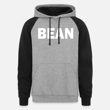 Bean PLACE AND TIME BEAN WHITE - Unisex Colorblock Hoodie