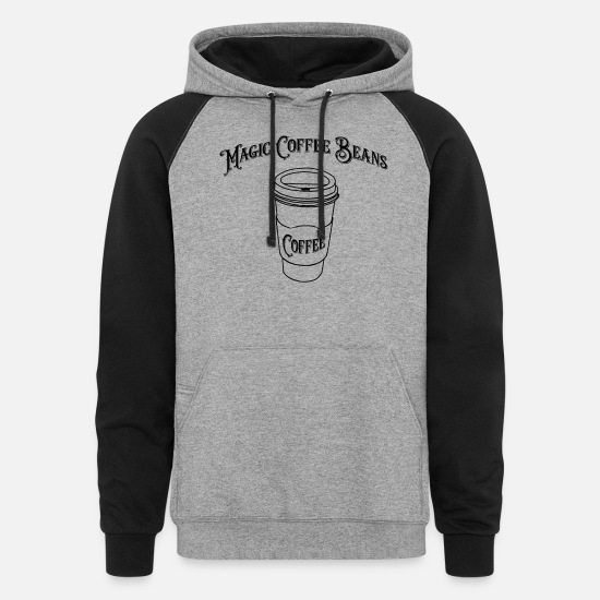 Magic Hoodies & Sweatshirts - Magic Coffee Beans - Unisex Colorblock Hoodie heather gray/black