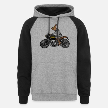 Cool-cute-stylish-mustaches FURPSTER MOTORCYCLE - Unisex Colorblock Hoodie