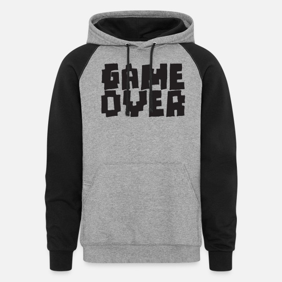 Over Hoodies & Sweatshirts - GAME OVER - Unisex Colorblock Hoodie heather gray/black
