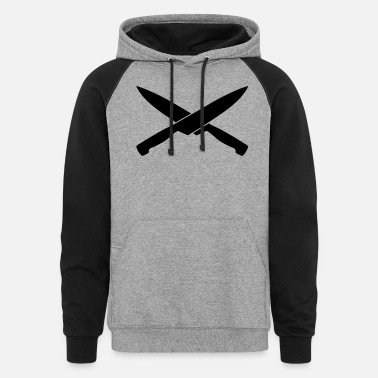 Smutje knife, Pirate, cook - Unisex Colorblock Hoodie