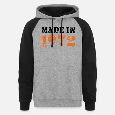 Made In 1972 Made in 1972 - Unisex Colorblock Hoodie