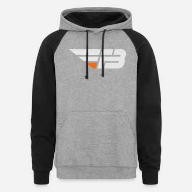 Fbl FBL White & Orange (nname - Unisex Colorblock Hoodie