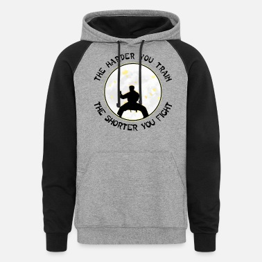 Kickboxing The Harder You Train The Shorter You Fight #004 - Unisex Colorblock Hoodie