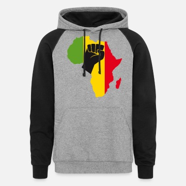 Yellow African Black Power - Unisex Colorblock Hoodie