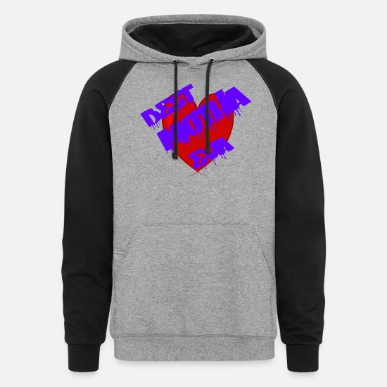 Mother's Day Hoodies & Sweatshirts - Best Mother Eva - Unisex Colorblock Hoodie heather gray/black