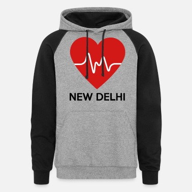 New Delhi Heart New Delhi - Unisex Colorblock Hoodie