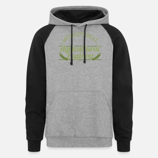 Agricultural Engineering Hoodies & Sweatshirts - Agricultural Engineer - World's best Agricultural - Unisex Colorblock Hoodie heather gray/black