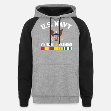 War US Navy Vietnam Veteran - Unisex Colorblock Hoodie