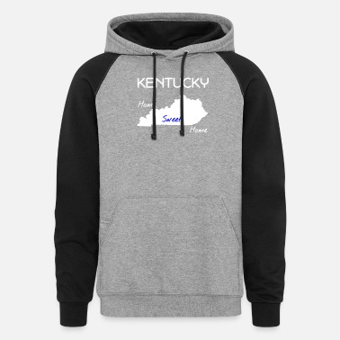 Kentucky Kentucky Home Sweet Home - Unisex Colorblock Hoodie