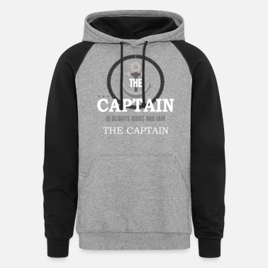 Boat Boat captain Shirt - Unisex Colorblock Hoodie