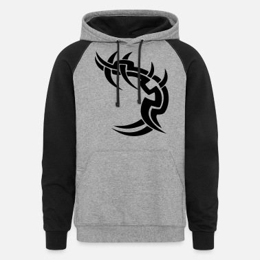 Tribal Tattoo tribal tattoo - Unisex Colorblock Hoodie