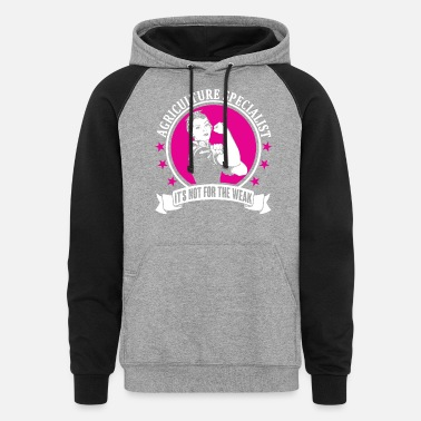 Agriculture Agriculture Specialist - Unisex Colorblock Hoodie